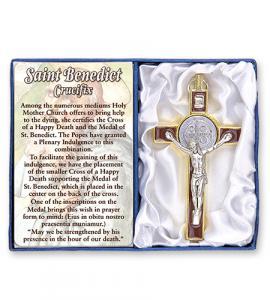 3 in Brown Saint Benedict Cross