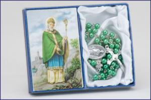 Saint Patrick Laminated Prayer Card with Rosary