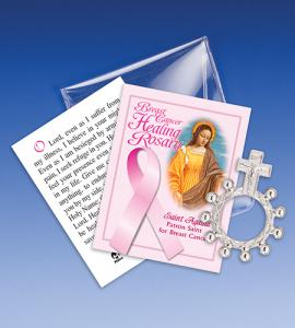 Saint Agatha Breast Cancer Healing Rosary Ring Packet