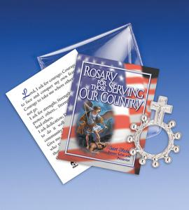 Saint Michael Serving Our Country Rosary Ring Packet