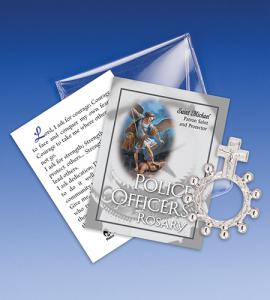 Saint Michael Police Rosary Ring Packet
