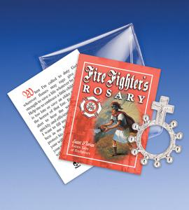 Saint Florian Firefighter Rosary Ring Packet