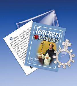 Saint Thomas Aquanis Teacher Rosary Ring Packet