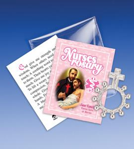 Saint Camillus Nurses Rosary Ring Packet