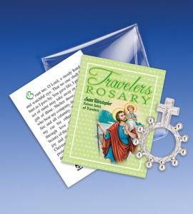 Saint Christopher Travel Rosary Ring Packet