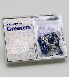 Greeters Rosary In Blue Box