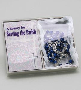Serving Parish Rosary In Blue Box