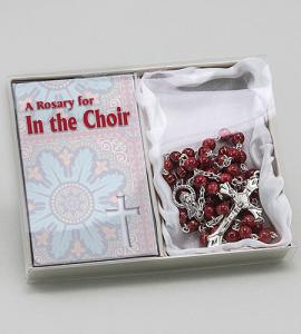 In The Choir Rosary In Blue Box