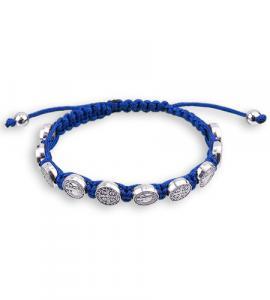 ST BENEDICT MEDAL BRACELET-BLUE