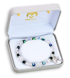 Crystal/Jet Bracelet Boxed