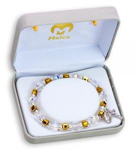 Crystal/Gold Bracelet Boxed