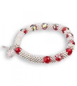 8X6mm RUBY BRACELET WITH SILVER SPACERS