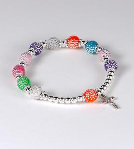 8mm MULTI BRACELET WITH SILVER SPACERS