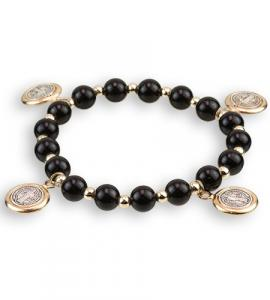 8mm ST BENEDICT BRACELET WITH DANGLING MEDALS