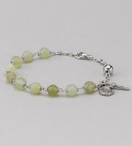 6 mm Round Gemstone Jade Rosary Bracelet