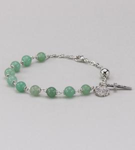6 mm Round Gemstone Aventurine  Rosary Bracelet