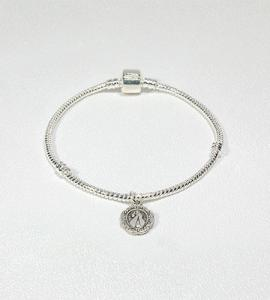 SILVER ROPE DIVINE MERCY BRACELET