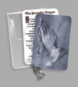 RECOVERY PVC POUCH WITH PRAYING HANDS