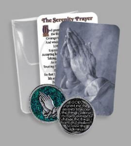 RECOVERY PVC POUCH WITH EPOXY SERENITY TOKEN
