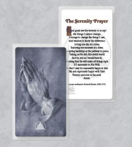 RECOVERY SERENITY LAMINATED PRAYER CARD