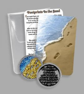 RECOVERY PVC POUCH WITH EPOXY FOOTPRINTS TOKEN