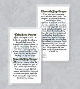 RECOVERY 3RD, 7TH, 11TH PRAYER LAMINATED PRAYER CARD