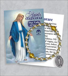 Our Lady of Grace Bracelet with Prayer Card