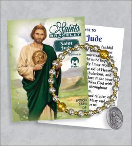 St Jude Bracelet with Prayer Card
