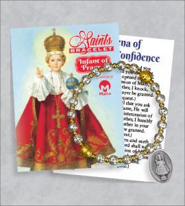 Infant Of Prague Bracelet with Prayer Card