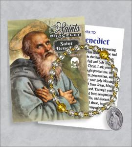 St Benedict Bracelet with Prayer Card