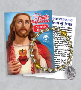 Sacred Heart Bracelet with Prayer Card