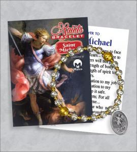 St Michael Bracelet with Prayer Card