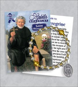 St Peregrine Bracelet with Prayer Card