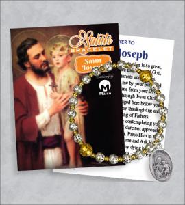 St Joseph Bracelet with Prayer Card