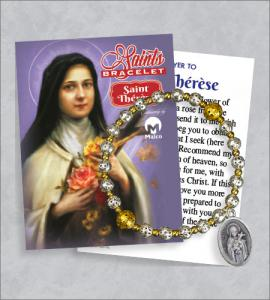 St Therese Bracelet with Prayer Card