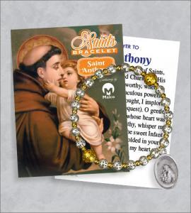 St Anthony Bracelet with Prayer Card