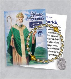St Patrick Bracelet with Prayer Card