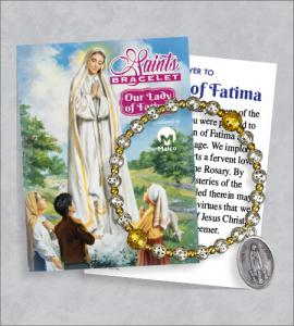 Our Lady of Fatima Bracelet with Prayer Card