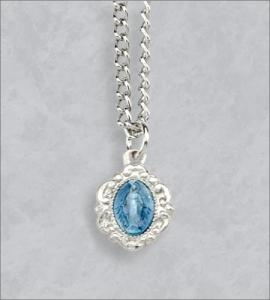 S.S. Blue Enameled Miraculous Medal
