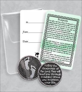 FOOTPRINTS PRAYER TOKEN PACKET