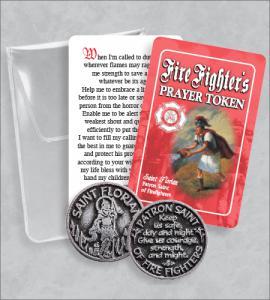 Firefighter's- Saint Florian Prayer  Token Packet