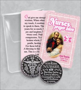 Nurses Prayer Token Packet with  Saint Camillus Card