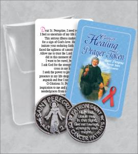 Cancer Healing Prayer Token Packet  with Saint Peregrine Card