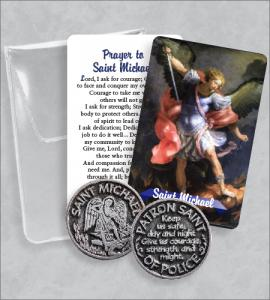Saint Michael Prayer Token Packet  with Saint Michael Image