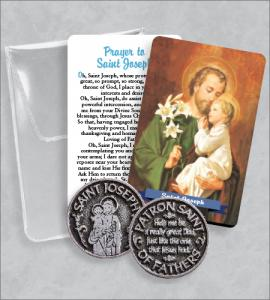 Saint Joseph Prayer Token Packet  with Saint Joseph Image