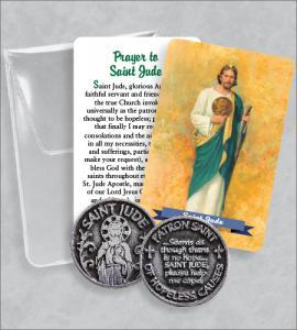 Saint Jude Prayer Token Packet  with Saint Jude Image