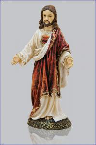 4in  SACRED HEART OF JESUS FLORENTINE STATUE