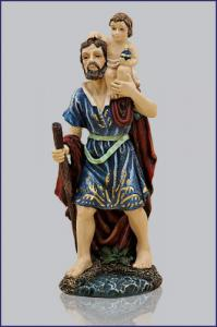 5 1/2in  ST. CHRISTOPHER FLORENTINE STATUE