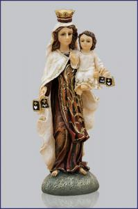 4in  OUR LADY OF MOUNT CARMEL FLORENTINE STATUE