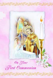 Girl Communion Greeting Card